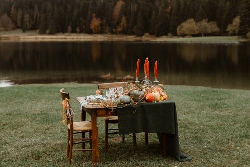 table de mariage décoration automne