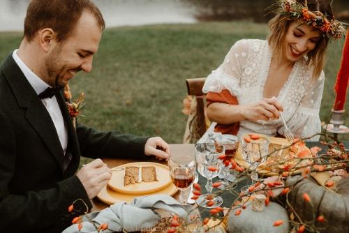 gâteau de mariage automne