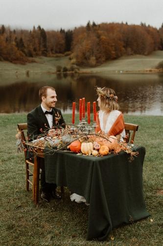 dîner de mariage automne